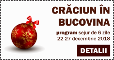 Program Craciun in Bucovina 2018